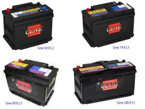 Аккумуляторные батареи Cene под стандарт DIN