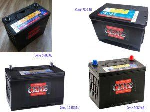 Аккумуляторные батареи Cene под стандарт JIS и BCI