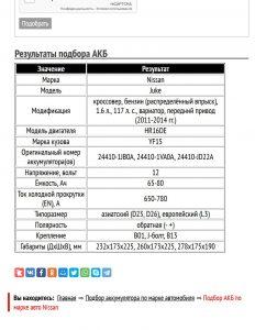 Результат подбора для Жук HR16DE 117 л. с.