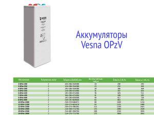 Аккумуляторы Vesna OPzV