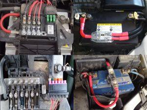 Примеры предохранителей на автомобильном аккумуляторе