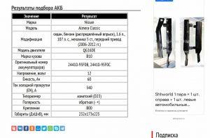 АКБ для Альмера Классик с двигателем QG16DE