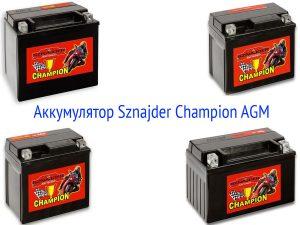 Мотоциклетные АКБ Sznajder Champion AGM