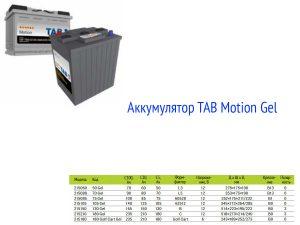 Аккумулятор TAB Motion Gel