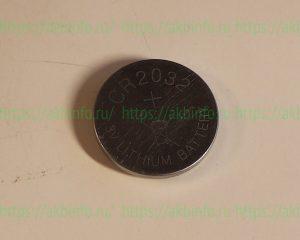 Литиевая батарейка дискового типа CR2032 3V для материнской платы