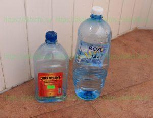 Электролит и дистиллированная вода