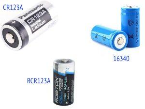 Батарейка CR123/CR123A, аккумуляторы RCR123A и 16340