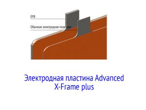 Электродная пластина Advanced X-Frame plus