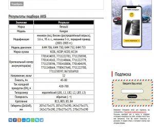 Подбор АКБ для Рено Кангу с бензиновым мотором K4M