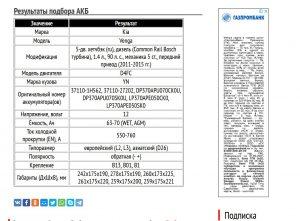 АКБ для Киа Венга с дизельным мотором D4FC
