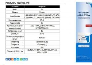 Подбор АКБ для Киа Пиканто с бензиновым мотором G3LA