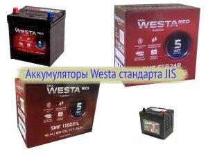 Аккумуляторы Westa стандарта Asia