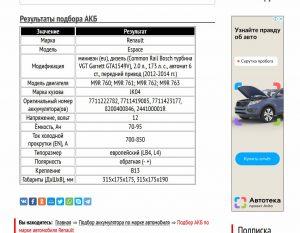 АКБ для Рено Эспейс с дизелем M9R