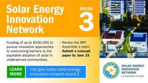 Подготовка третьего раунда Solar Energy Innovation Network