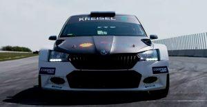 Испытания комплекта трансмиссии RX1E на шасси Skoda WRC