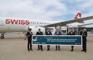 Авиакомпания SWISS выполняет рейсы из Швейцарии с Neste MY (SAF)