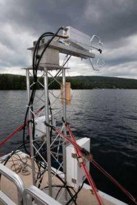Исследовательский аппарат на озере Джордж
