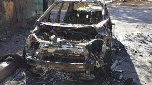 Сгоревший электромобиль Chevrolet Bolt