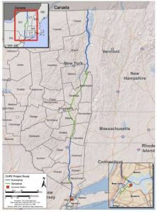 Маршрут проекта Champlain Hudson Power Express