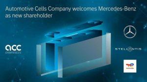 Компания Mercedes-Benz присоединяется к совместному предприятию по производству аккумуляторов Automotive Cells Company (ACC)
