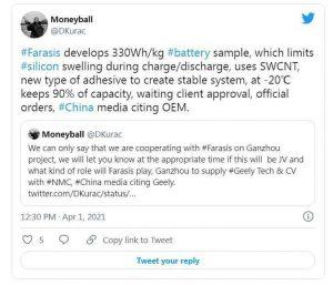 Аккумуляторы Farasis Energy имеют энергоёмкость на 25% больше