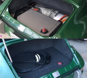 Porsche 912 1968 года выпуска переделанный на электрическую тягу